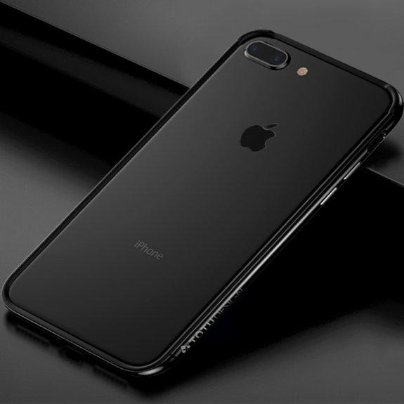 Totudesign rámeček k ochraně hran z tvrdého plastu pro iPhone 7 Plus / 8 Plus - černý - možnost vrátit zboží ZDARMA do 30ti dní