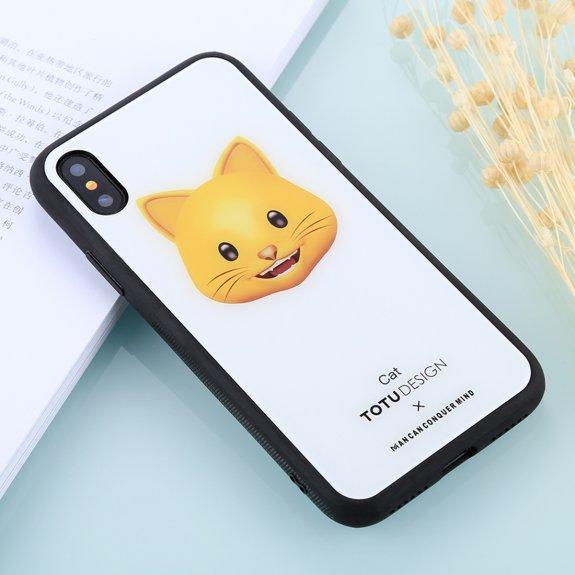Totudesign kryt se skleněnou zadní stranou pro iPhone X / XS - ryšavá kočka - možnost vrátit zboží ZDARMA do 30ti dní