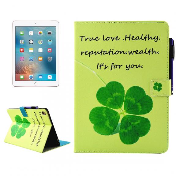 """AppleKing pouzdro se stojánkem, přihrádkami na doklady a apple pencil pro iPad Pro 9.7"""" / iPad Air 2 - štěstíčko - možnost vrátit zboží ZDARMA do 30ti dní"""
