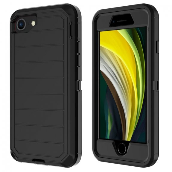 AppleKing nárazuvzdorný kryt k ochraně přední i zadní strany iPhone 7 / 8 / SE (2020) - černý - možnost vrátit zboží ZDARMA do 30ti dní