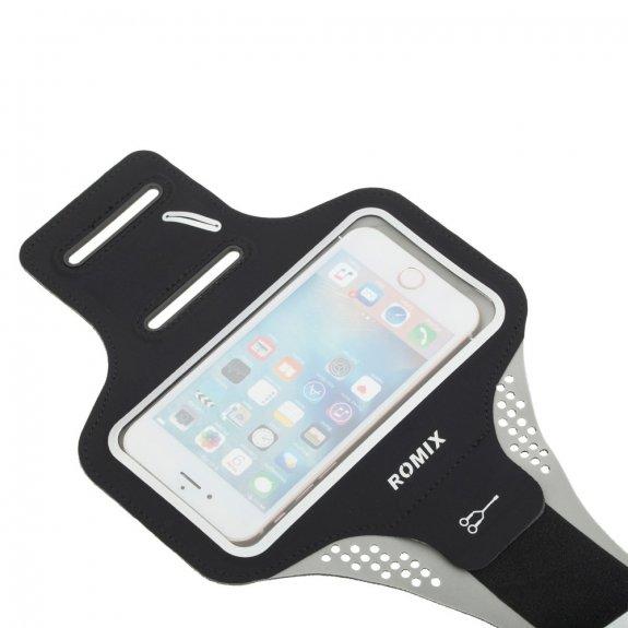 Romix sportovní pouzdro na paži pro iPhone 6 / 6S - černé - možnost vrátit zboží ZDARMA do 30ti dní