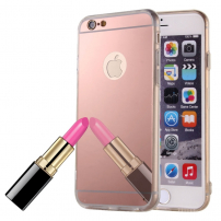 Zrcadlový ochranný kryt pro iPhone 6 / 6S - růžový