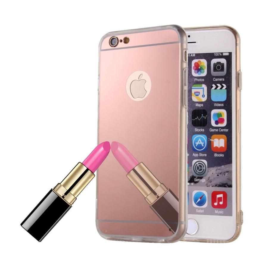 Zrcadlový ochranný kryt pro iPhone 6   6S - růžový - AppleKing.cz 3517b47419c