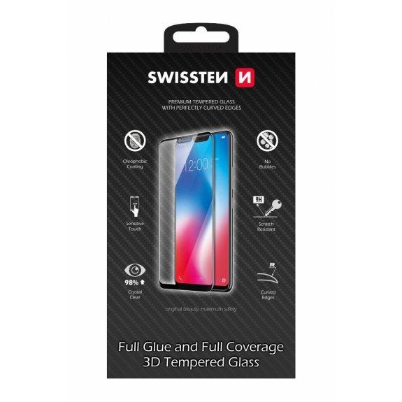 SWISSTEN 3D Tvrzené sklo (Tempered Glass) na iPhone XS / X - tvrdost 9H - bílý rámeček - možnost vrátit zboží ZDARMA do 30ti dní