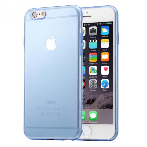 HAWEEL ultra tenký (0.3mm) průhledný ochranný kryt pro iPhone 6 / 6S - modrý - možnost vrátit zboží ZDARMA do 30ti dní