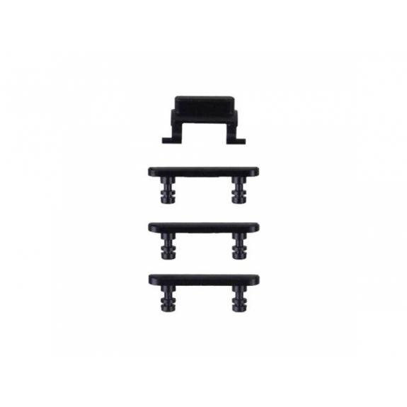 AppleKing náhradní postranní tlačítka pro Apple iPhone 7 (Hlasitost + Zapnutí / vypnutí + Ztlumení) - černá - možnost vrátit zboží ZDARMA do 30ti dní