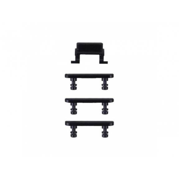 AppleKing náhradní postranní tlačítka pro Apple iPhone 7 (Hlasitost + Zapnutí / vypnutí + Ztlumení) - Jet Black - možnost vrátit zboží ZDARMA do 30ti dní