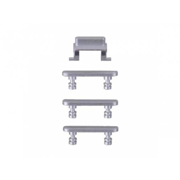 AppleKing náhradní postranní tlačítka pro Apple iPhone 7 (Hlasitost + Zapnutí / vypnutí + Ztlumení) - stříbrná (Silver) - možnost vrátit zboží ZDARMA do 30ti dní