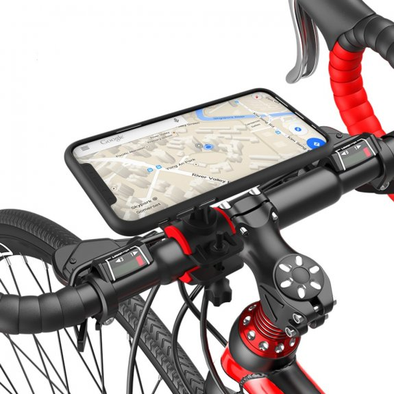AppleKing držák na řídítka pro iPhone s 360° rotací - černý - možnost vrátit zboží ZDARMA do 30ti dní