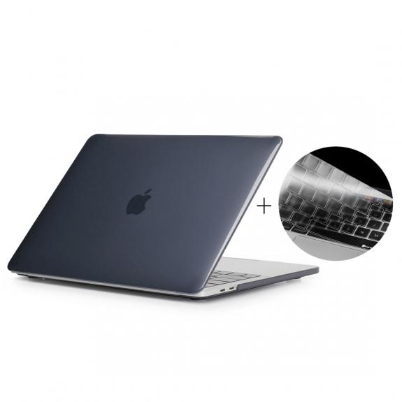 """ENKAY 2v1 ochranný obal a ultra tenký kryt EU klávesnice pro Macbook Pro 13"""" s Touch Barem (model A1706) - černý - možnost vrátit zboží ZDARMA do 30ti dní"""