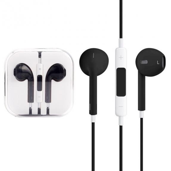 AppleKing sluchátka s mikrofonem a dálkovým ovládáním pro Apple zařízení - černá - možnost vrátit zboží ZDARMA do 30ti dní