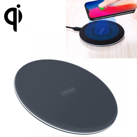 JOYROOM rychlá a tenká certifikovaná Qi bezdrátová nabíječka pro iPhone / 8 / 8 Plus - modrá - možnost vrátit zboží ZDARMA do 30ti dní