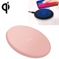 JOYROOM rychlá a tenká certifikovaná Qi bezdrátová nabíječka pro iPhone X / 8 / 8 Plus - Rose Gold