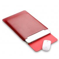 """SOYAN obálka s podložkou pro Apple MacBook 13"""" - mikrovlákno - vínově rudá"""