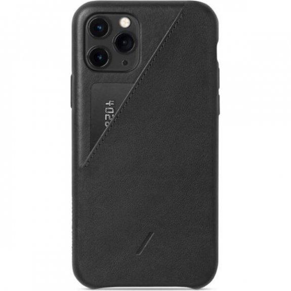 Native Union kožený kryt s kapsou na karty pro iPhone 11 Pro - černý CCARD-BLK-NP19S - možnost vráti
