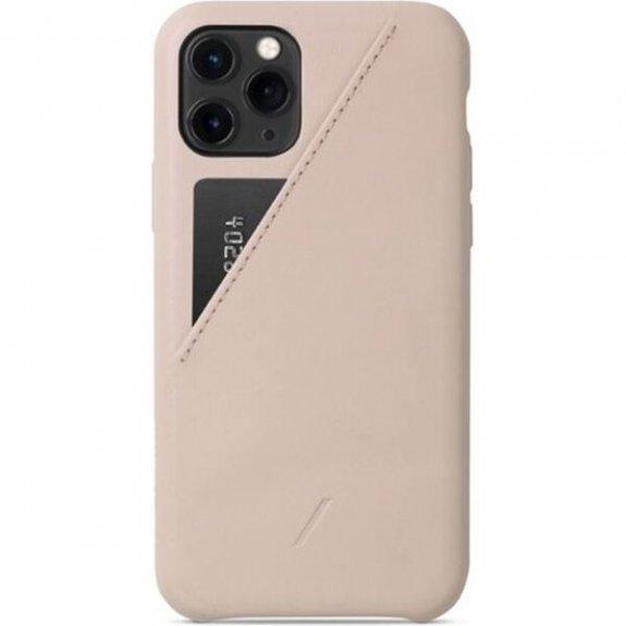 Native Union kožený kryt s kapsou na karty pro iPhone 11 Pro - béžový CCARD-NUD-NP19S - možnost vrát
