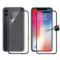 ENKAY přední a zadní tvrzené sklo 3D pro iPhone X / XS - 0,2 mm - černá