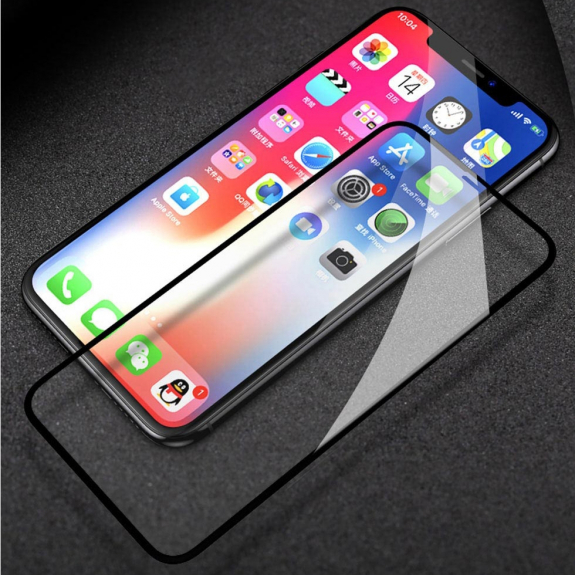 TOTUDESIGN super odolné 3D sklo pro iPhone X / XS / 11 Pro - 0,23 mm - černá - možnost vrátit zboží ZDARMA do 30ti dní