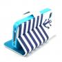 Pouzdro se stojánkem a sloty na karty pro Apple iPhone 4 / 4S - Pruhy a kotva