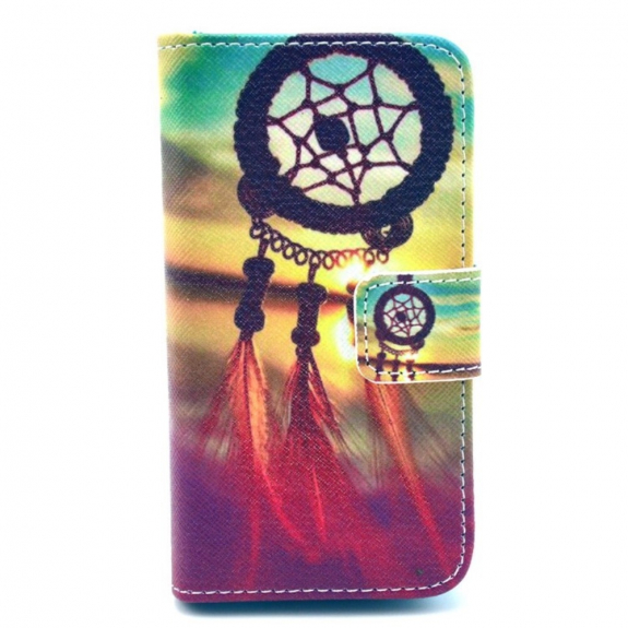 AppleKing pouzdro Wallet Shell se stojánkem pro Apple iPhone 4 / 4S - Sunset Dream Catcher - možno