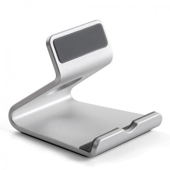 Upergo hliníkový protiskluzový stolní stojánek na iPhone / iPad - stříbrný - možnost vrátit zboží ZDARMA do 30ti dní