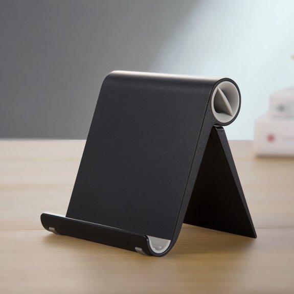 AppleKing sklápěcí stolní stojánek na iPhone / iPad - černý - možnost vrátit zboží ZDARMA do 30ti dní
