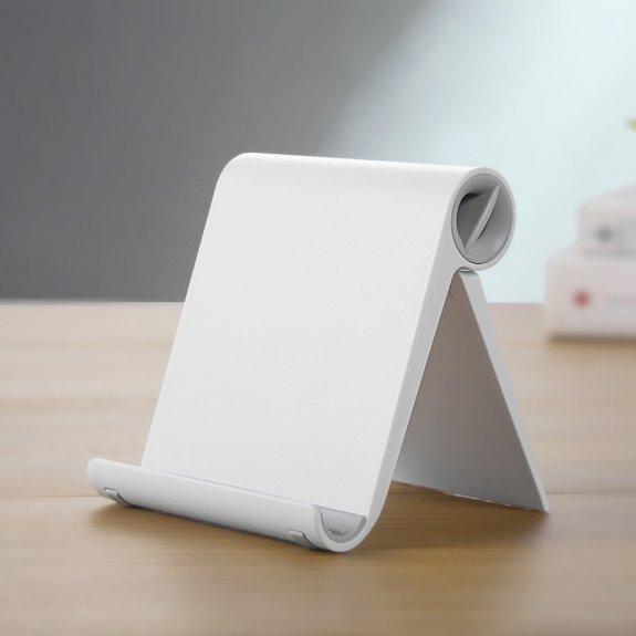 AppleKing sklápěcí stolní stojánek na iPhone / iPad - bílý - možnost vrátit zboží ZDARMA do 30ti dní