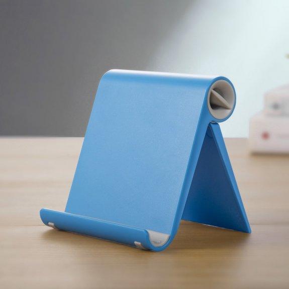 AppleKing sklápěcí stolní stojánek na iPhone / iPad - modrý - možnost vrátit zboží ZDARMA do 30ti dní