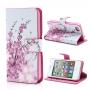 Magnetické pouzdro / kryt se stojánkem a sloty na karty pro Apple iPhone 4 / 4S - růžové