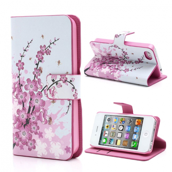 AppleKing magnetické pouzdro / kryt se stojánkem a sloty na karty pro Apple iPhone 4 / 4S – růžové - možnost vrátit zboží ZDARMA do 30ti dní
