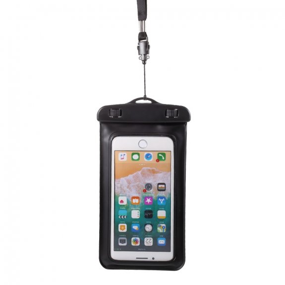 AppleKing nepromokavá kapsa s poutkem na ruku a na krk pro iPhone - 18,5 x 10 cm - černá - možnost vrátit zboží ZDARMA do 30ti dní