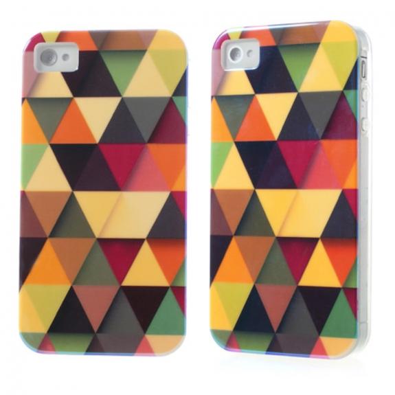AppleKing ochranný kryt pro iPhone 4 / 4S - Trojúhelníky - možnost vrátit zboží ZDARMA do 30ti dní