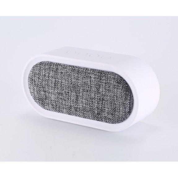 REMAX přenosný Bluetooth reproduktor s textilním potahem - bílo / šedý - možnost vrátit zboží ZDARMA do 30ti dní
