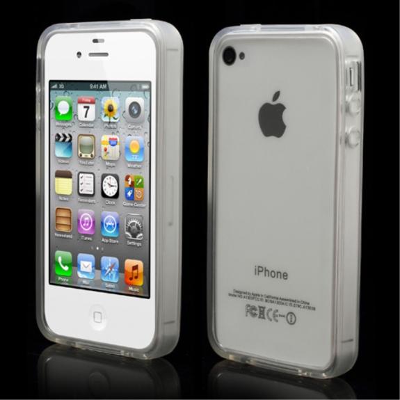 AppleKing ochranný průsvitný rámeček / bumper pro Apple iPhone 4 / 4S - možnost vrátit zboží ZDARMA do 30ti dní