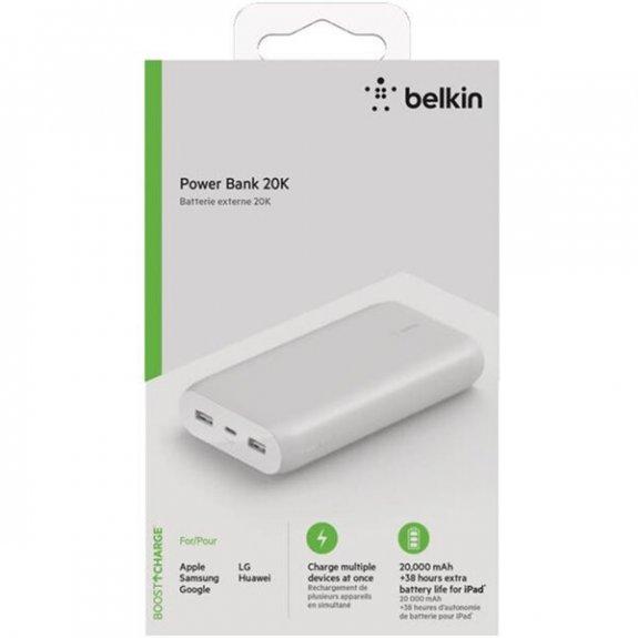 Belkin Boost Charge powerbanka 20000mAh s porty USB / USB-C - bílá BPB003btWT - možnost vrátit zboží ZDARMA do 30ti dní
