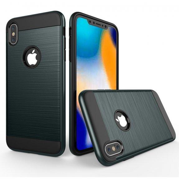 AppleKing odolný kryt na iPhone XS Max - broušená textura - tmavě modrý - možnost vrátit zboží ZDARMA do 30ti dní