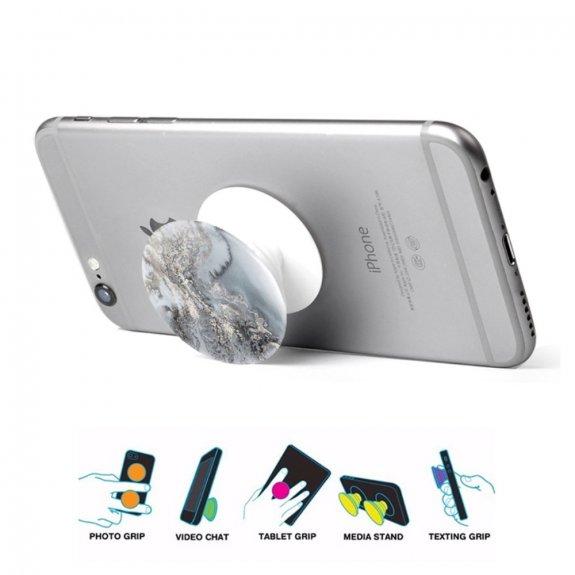 AppleKing nalepovací držák na iPhone / iPad - šedý mramor - možnost vrátit zboží ZDARMA do 30ti dní