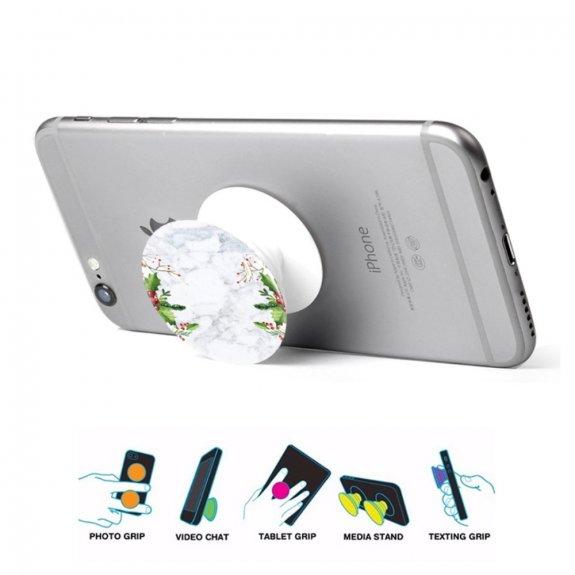 AppleKing nalepovací držák na iPhone / iPad - šedý mramor a jmelí - možnost vrátit zboží ZDARMA do 30ti dní