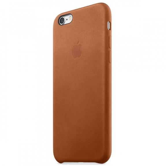 Originální kožený kryt pro Apple iPhone 6S - sedlově hnědý MKXT2ZM/A - možnost vrátit zboží ZDARMA do 30ti dní