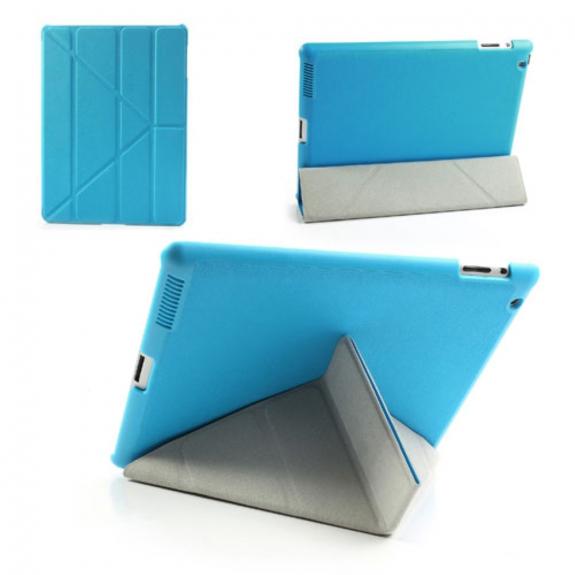 AppleKing ochranný Smart Cover kryt se stojánkem na Apple iPad 2. / 3. / 4. gen. - modrý - možnost vrátit zboží ZDARMA do 30ti dní