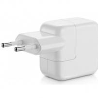Originální nabíječka / adaptér 12W s EU zástrčkou a USB konektorem pro Apple iPhone / iPad / iPod - bílá