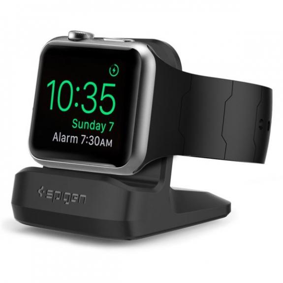 Spigen elegantní noční stojánek pro Apple Watch - černý SGP11584 - možnost vrátit zboží ZDARMA do 30ti dní