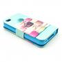 Pouzdro se stojánkem pro Apple iPhone 4 / 4S - Makrónka