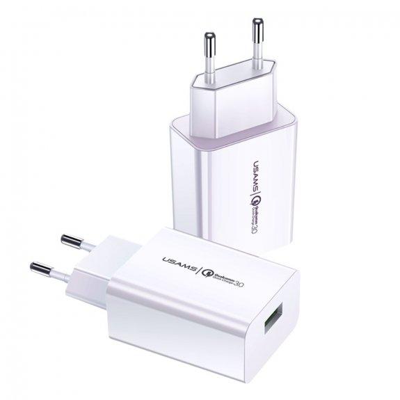 Usams cestovní nabíjecí adaptér 18W s konektorem USB pro rychlé nabíjení - možnost vrátit zboží ZDAR
