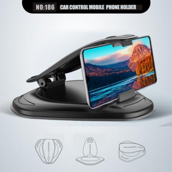 AppleKing držák na iPhone na palubní desku (rozpětí 10-14,5 cm) - černý - možnost vrátit zboží ZDARMA do 30ti dní