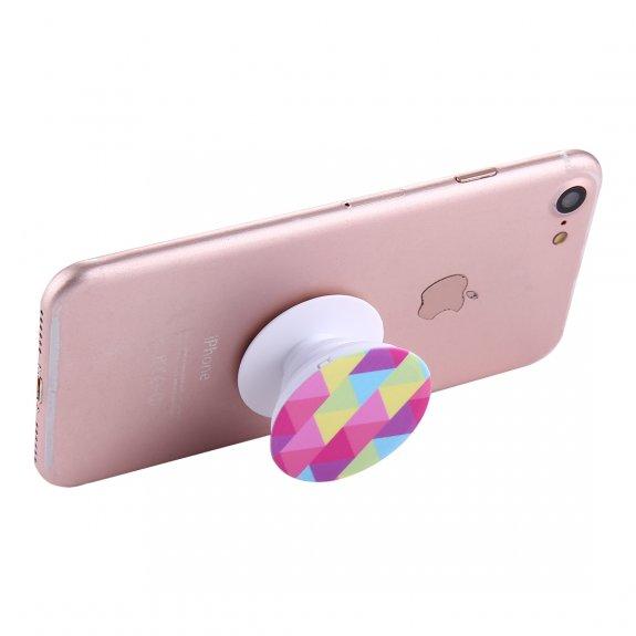AppleKing multifunkční držák na zadní stranu telefonu pro Apple iPhone / iPad - barevná geometrie - možnost vrátit zboží ZDARMA do 30ti dní