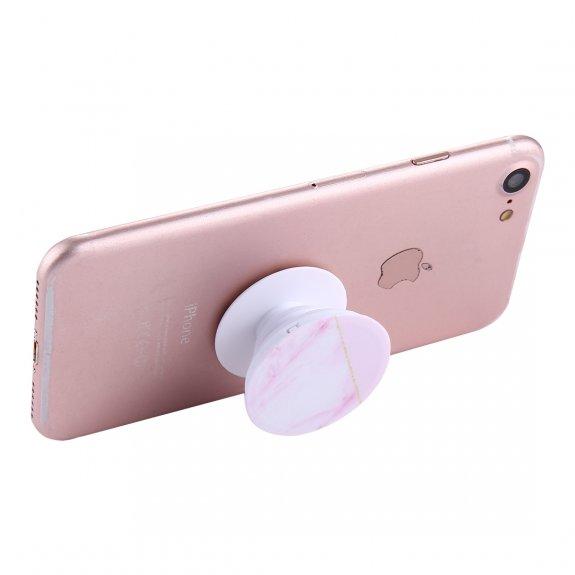 AppleKing multifunkční držák na zadní stranu telefonu pro Apple iPhone / iPad - růžový mramor - možnost vrátit zboží ZDARMA do 30ti dní