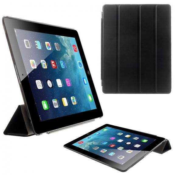 AppleKing pouzdro Smart Cover se stojánkem pro Apple iPad 2. / 3. / 4. gen. - černé - možnost vrátit zboží ZDARMA do 30ti dní