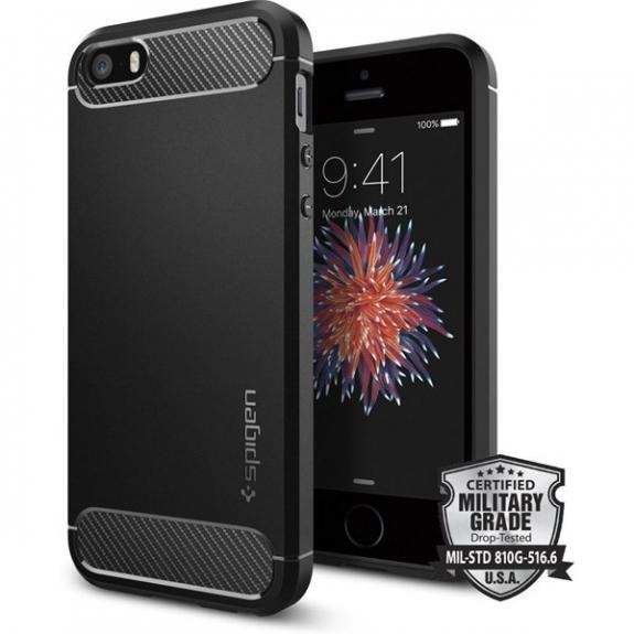 Spigen odolný kryt Armor pro Apple iPhone SE / 5S / 5 - černý 041CS20167 - možnost vrátit zboží ZDARMA do 30ti dní
