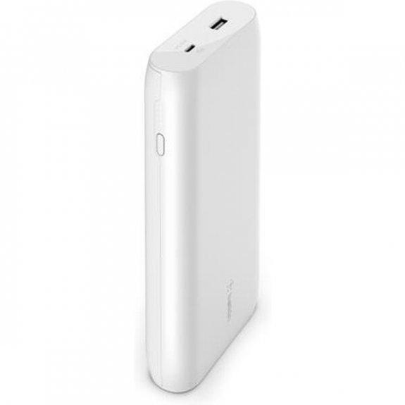 Belkin Boost Charge PowerBanka s konektory USB-A / USB-C - 20000mAh - bílá BPB002btWT - možnost vrátit zboží ZDARMA do 30ti dní